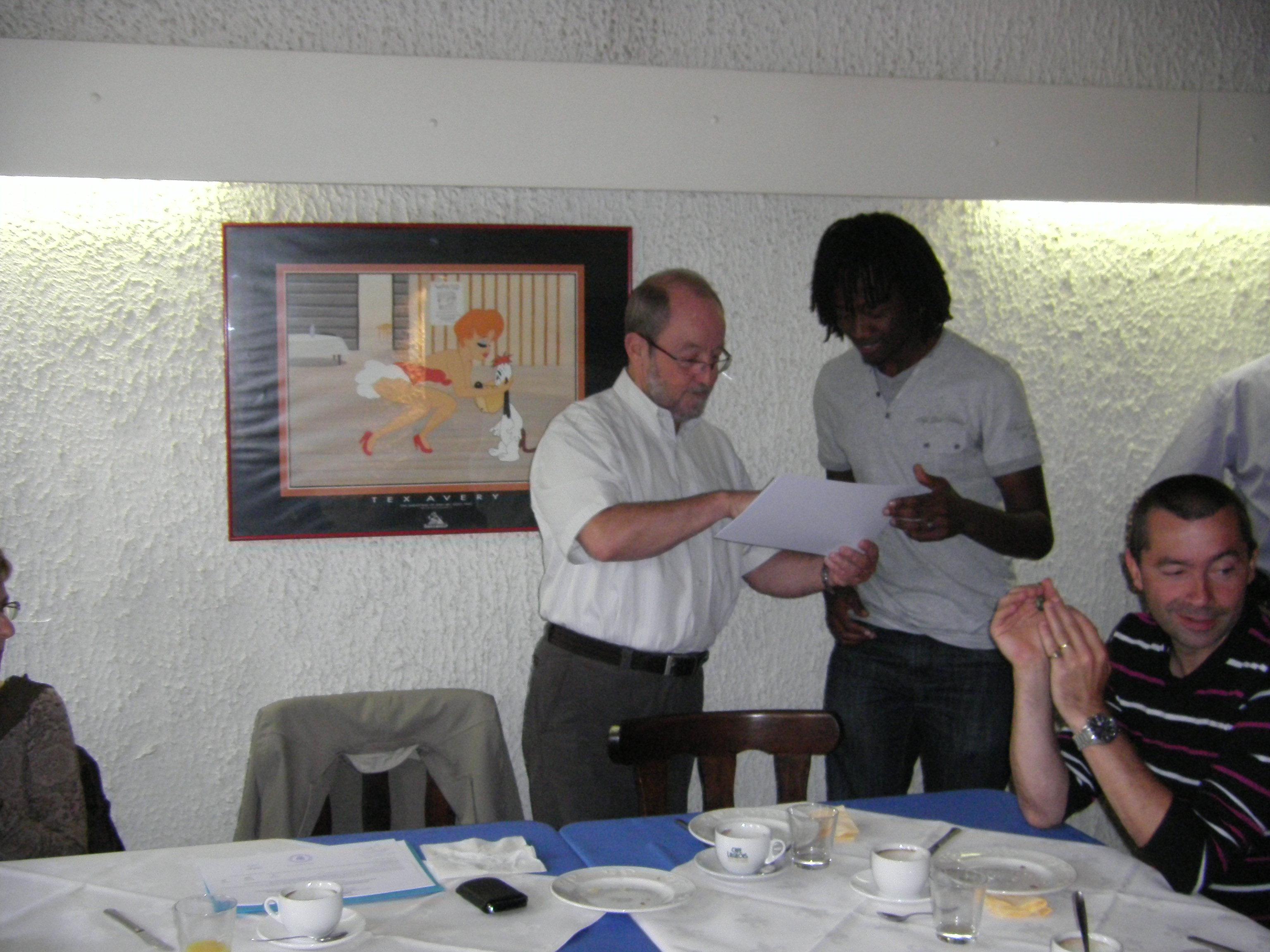 Remise des diplômes 2011 de la formation ESGE